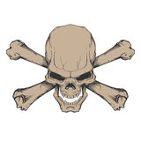 Skull and crossbones stock illustration