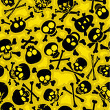 Skull & Crossbones Vectors Seamless Pattern. Seamless pattern made with several different styles of Skulls and Crossbones Stock Photos