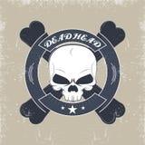 Skull and crossbones. Vintage banners in grunge style.skull and crossbones vector illustration
