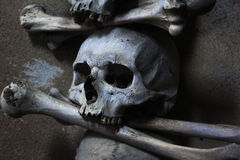Skull and Crossbones. On the wall Royalty Free Stock Image