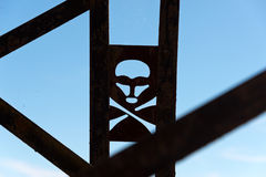 Skull and crossbones warning sign Stock Images