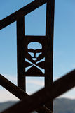 Skull and crossbones warning sign Royalty Free Stock Images