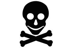 Skull and crossed bones Royalty Free Stock Photography