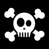 Skull with crossed bones Stock Image