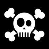 Skull with crossed bones Stock Image