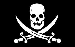 Skull with crossed bones Stock Photos