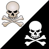 Skull and crossed bones vector logo illustration stock images