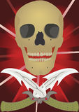 Skull with the crossed knifes. Royalty Free Stock Photos