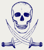 Skull and crossed swords Royalty Free Stock Images