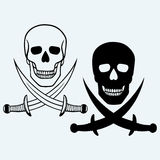 Skull and crossed swords Stock Images