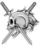 Skull with crossing swords Royalty Free Stock Photography