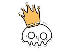 Skull with crown Royalty Free Stock Image