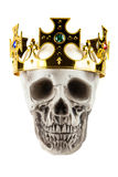 Skull with Crown Stock Images