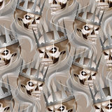 Skull in the crown Stock Photos