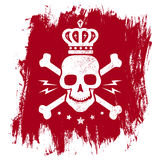 Skull and crown Royalty Free Stock Images