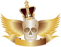 Skull with Crown and WIngs Royalty Free Stock Image