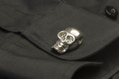 Skull Cuff Link Stock Images