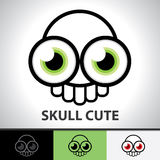 Skull cute symbol Royalty Free Stock Images