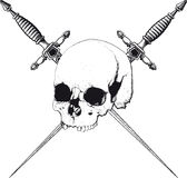 Skull and Dagger Stock Photos
