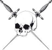 Skull and Dagger Stock Photos