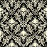 Skull damask Stock Photography