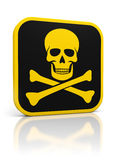 Skull danger icon Stock Photo