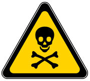 Skull danger sign vector illustration
