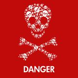Skull danger sign Royalty Free Stock Image
