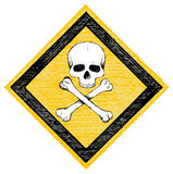 Skull danger sign Stock Photos