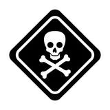 Skull danger sign icon Stock Photography