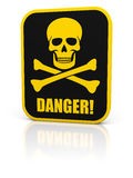 Skull danger sign 2 Stock Image