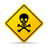 Skull danger sign stock illustration