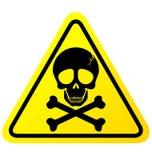 Skull danger sign. On white background stock illustration