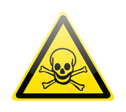 Skull danger signs Royalty Free Stock Image