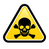Skull danger signs Stock Photos
