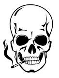 Skull for danger smoke concept Stock Images