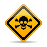 Skull danger vector sign vector illustration