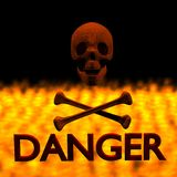Skull Danger With Fire Royalty Free Stock Image