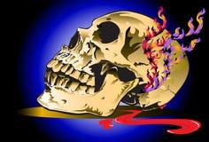 Skull and dark Royalty Free Stock Photo