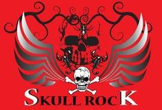 Skull and dark Royalty Free Stock Photos