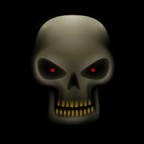 Skull in the dark Royalty Free Stock Images