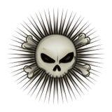 Skull dark star Royalty Free Stock Photography