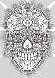 Skull - Day of the dead royalty free illustration