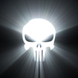 Skull death symbol white light halo Stock Photos