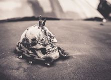 Skull decoration on car. Skul decoration on car. Beautifull art. Amazing Royalty Free Stock Photos