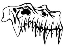 Skull of Demon Royalty Free Stock Image