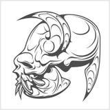 Skull demon or evil horror Stock Photos