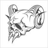 Skull demon or evil horror Stock Images