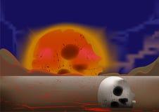 Skull in a desert Royalty Free Stock Photo