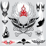 Skull design elements Royalty Free Stock Image